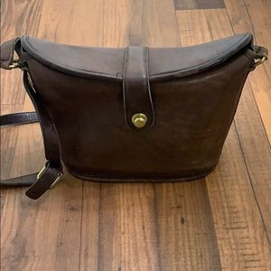 Vintage real leather Coach bucket Bag